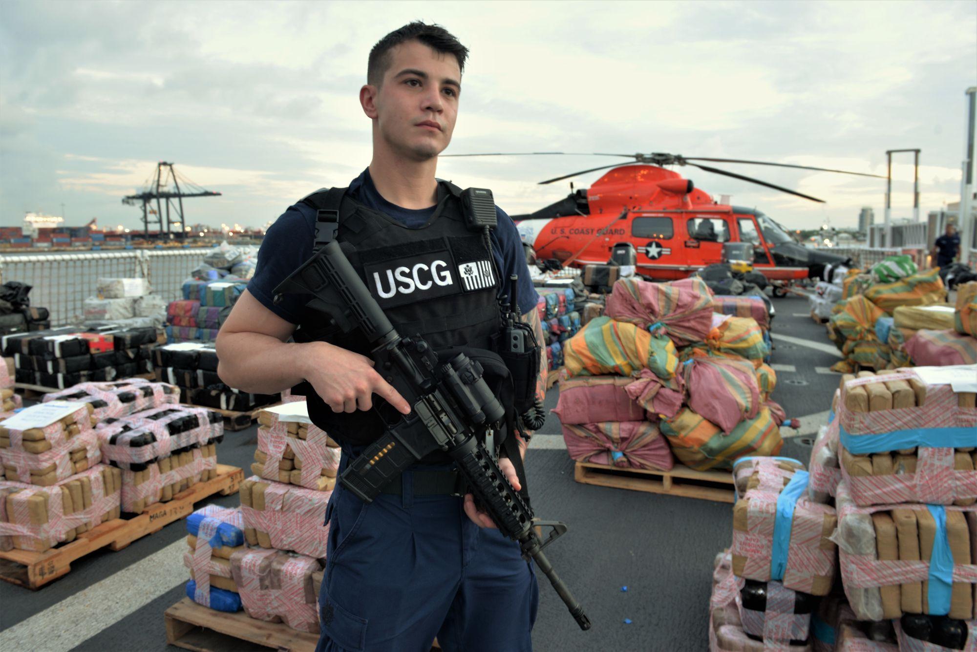"USCG Bulletin: ""Cutter James offloads approximately 30,000 pounds of cocaine, marijuana at Port Everglades"""