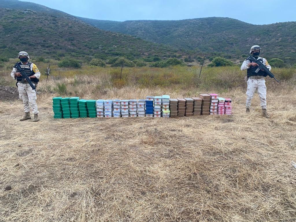 Approximately 283 kilos of crystal and one kilo of fentanyl in Ensenda, Baja California