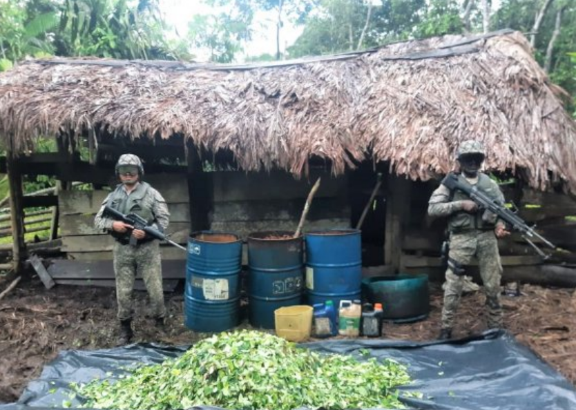 Colombian Navy destroyed three jungle laboratories in Chocó