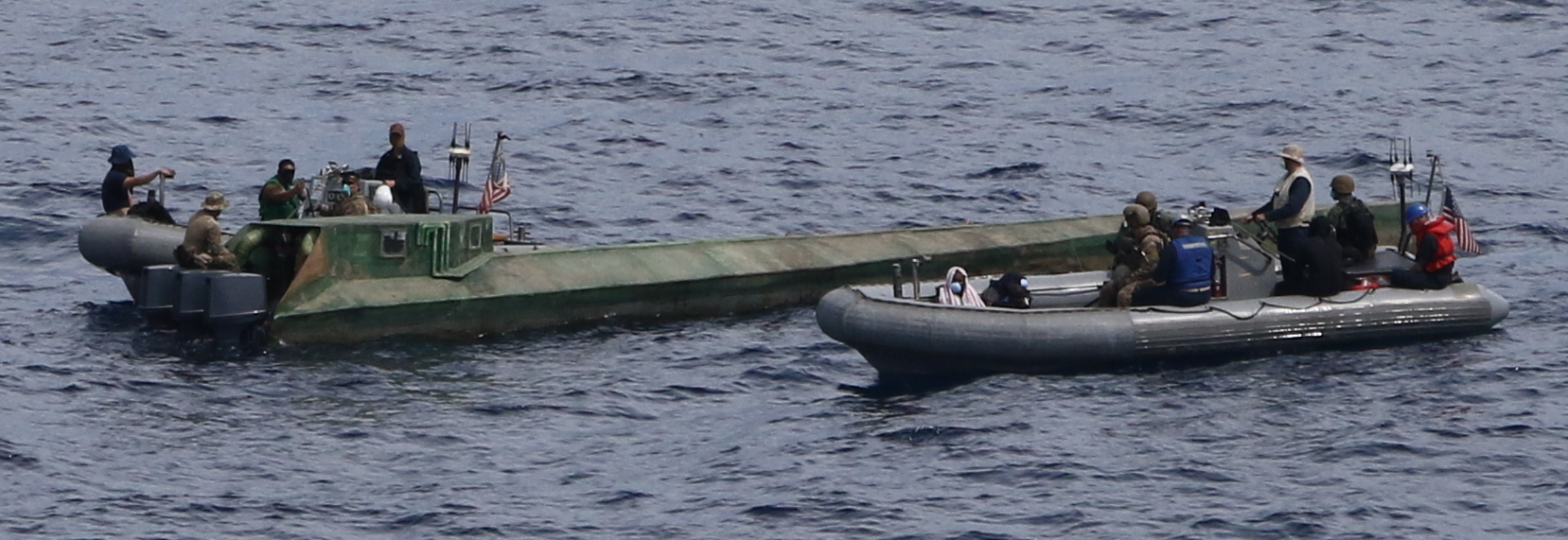 USS Preble with 100 bales of cocaine from a low-profile go-fast vessel in the eastern Pacific