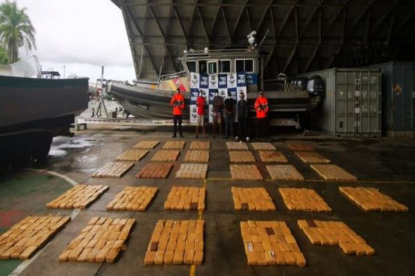Interdiction by Colombian Navy brings them to total of 77 tons of drugs seized in first half of year
