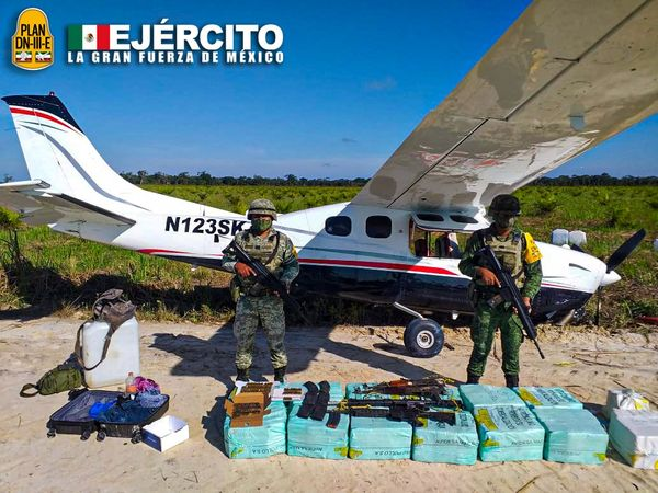 Drug plane with 350 kilos found in Campeche